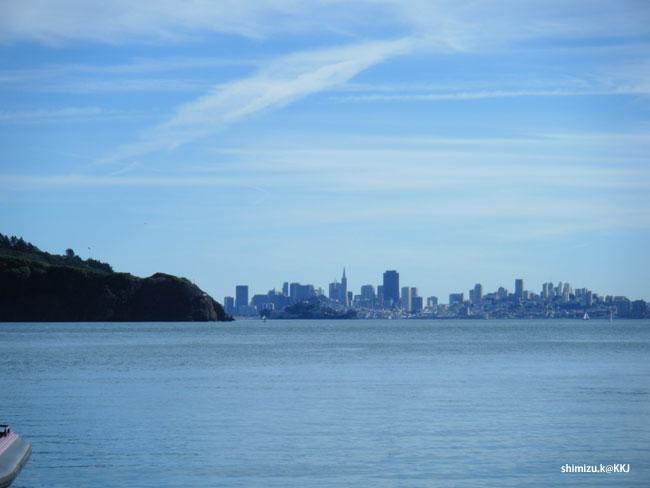 マリン郡 ティバロンから見るサンフランシスコ