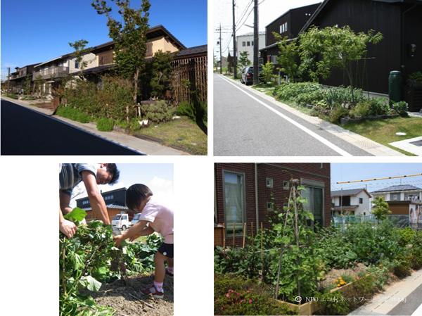 各家庭の取り組みがまちの「風景」となっている。