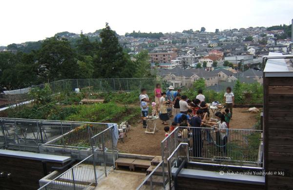 屋上菜園と広場