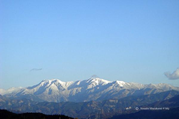 霊峰石鎚山の雪化粧