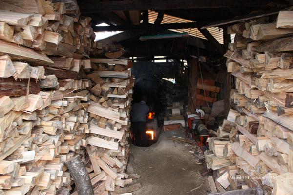 薪窯の様子