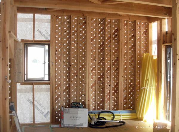 ラティス耐震パネルの設置状況