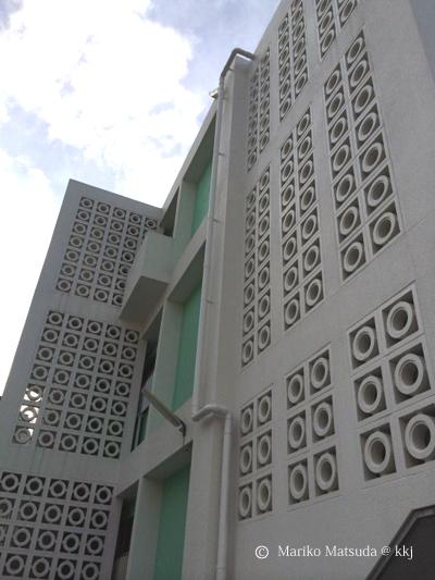 モデル住宅の花ブロック