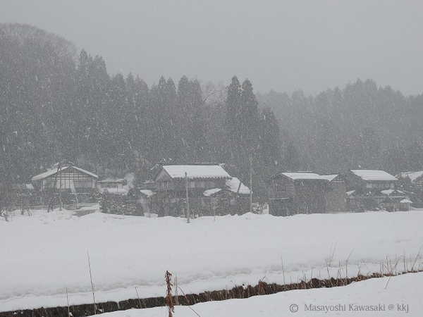 雪景色 高岡市郊外