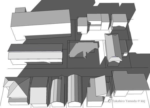 モデリングソフトで敷地の日射状況をチェック