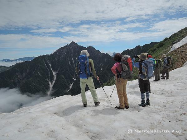 奥大日岳稜線から剱岳(2999㍍)を望む