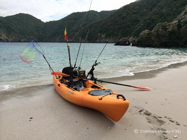 坊津周辺には、海からしかアプローチできない砂浜がいくつもあります。