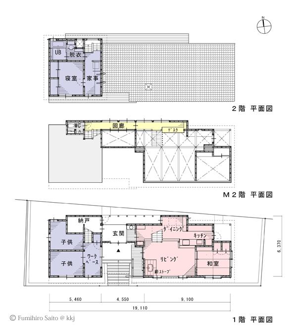 いいの「虹の家」平面図